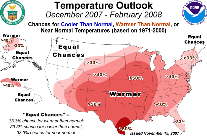 NOAA Still Sees Above Average Temperatures for Most of the U.S. and ...